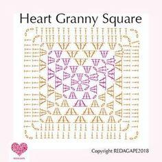 Transcendent Crochet Solid Granny Square Ideas That You Would Love Ideas Crochet Granny Square Patterns Heart Granny Square Crochet Pattern….and a CAL! Motifs Granny Square, Granny Square Pattern Free, Granny Square Häkelanleitung, Granny Square Crochet Pattern, Crochet Diagram, Crochet Chart, Crochet Squares, Crochet Motif, Crochet Patterns