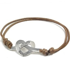 316L Stainless Steel Entangled Hearts Double Knot Stretch Bracelet (Friends Forever)-Brown (Jewelry)  http://postteenageliving.com/amazon.php?p=B007RGZ4I8