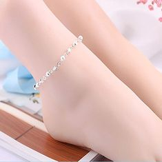 Tonkaobadin Nattypat Fashion Ankle Bracelet Women 925 Sterling Silver Anklet Foot Jewelry Chain Beach * Visit the image link more details. (As an Amazon Associate I earn from qualifying purchases) Sterling Silver Anklet, Silver Anklets, Anklet Jewelry, Hand Spinner, Ankle Bracelets, Silver Color, Jewelry Sets, Chain, Amazon