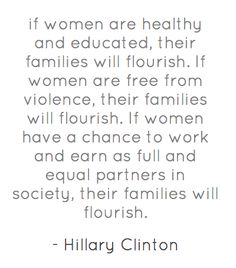 Women's rights are human rights.