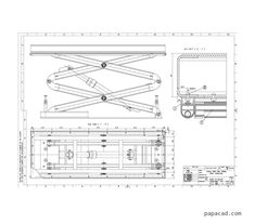 Scissor lift table pdf drawings papacad.com
