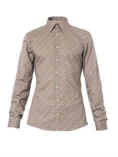 Gucci Stirrup-Print Cotton Shirt Printed Cotton, Men Sweater, Gucci, My Style, Sweaters, Shirts, Fashion, Moda, Pullover