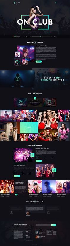 OnClub - Bar & Club PSD Template #night life #party #party night • Download ➝ https://themeforest.net/item/onclub-bar-club-psd-template/21014420?ref=rabosch