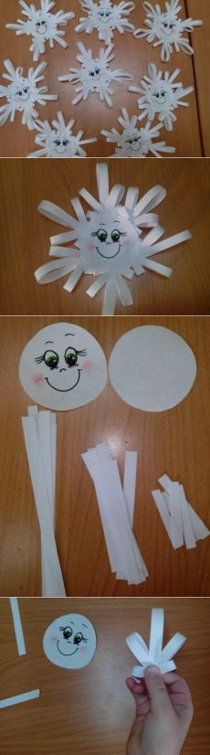 Good Screen winter Crafts for Kids Suggestions There are numerous very easy ideas pertaining to kids. Kids Crafts, Santa Crafts, Christmas Crafts For Kids, Preschool Crafts, Winter Christmas, Diy And Crafts, Christmas Decorations, Wood Crafts, Snowflake Craft