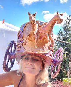 Cowboy Hats, Sculptures, Textiles, Fashion, Moda, Fashion Styles, Fabrics, Fashion Illustrations, Textile Art