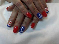 #navy #nails #lovee