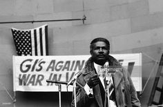 American actor and activist Ossie Davis (1917 - 2005) speaks at an Anti-Vietnam War rally outside the 1968 Democratic National Convention, Chicago, Illinois, Augiut 1968.