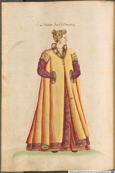 Kostüme der Männer und Frauen in Augsburg und Nürnberg, Deutschland, Europa, Orient und Afrika - BSB Cod.icon. 341