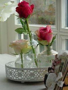 Fresh roses from the flower garden