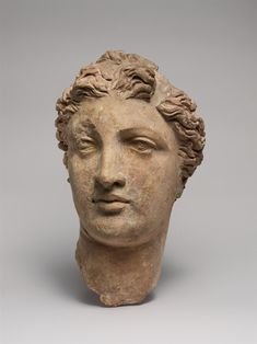 Greek, Terracotta head of a woman, 3rd-2nd century... - to love many things