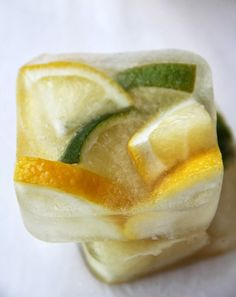 Make these vinegar and citrus ice cubes to clean your garbage disposal.