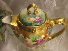 Absolutely Stunning Antique Limoges France Masterpiece Rare from oldbeginningsantiques on Ruby Lane