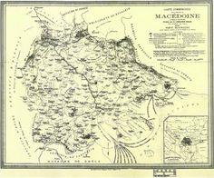 Carte commerciale dela province de Macedoine