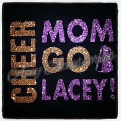 Glitter Cheer Mom Shirt