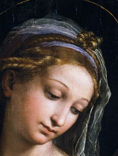 Raphael (Raffaello Sanzio da Urbino) ~ Virgin of the Rose (detail), 1516