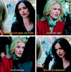 """He's always here"" - #JessicaJones and Trish"