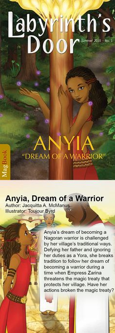 Anyia, Dream of a Warrior is a children's book for kids who love to read adventures.