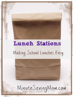 Back To School: Lunch Station #backtoschool