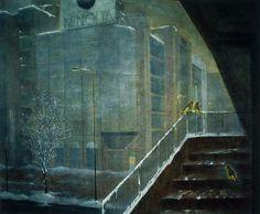 春雪の街  /  162.1 ×130.3cm (サロン・ドートンヌ '88 / 制作年:1987)
