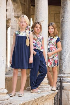 Classic P/V 2015 Tween Fashion, Little Girl Fashion, Toddler Fashion, Little Girl Dresses, Girls Dresses, Flower Girl Dresses, Moda Blog, Little Fashionista, Look Chic