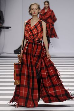 Designers went mad for tartan plaid this season. (Jean-Charles de Castelbajac #fw11)