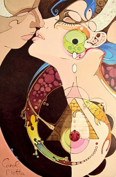 """KISS"" Art Print by Carol Motta on Society6."