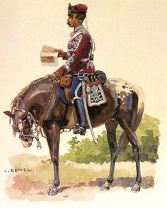 German; 5th(Pommeranian) Hussar Regt 'Fürst Blücher von Wahlstatt' , Oberst. Home Depot Stolp. XVII Corps