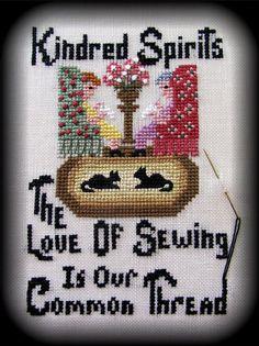 Kindred Spirits by ByTheBayNeedleart on Etsy