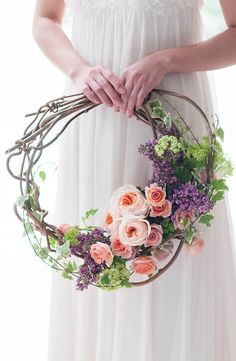 HKW-55 Wedding Wreaths, Wedding Decorations, Floral Hoops, Deco Floral, Bride Bouquets, Bridal Flowers, Floral Wedding, Boho Wedding, Paper Flowers