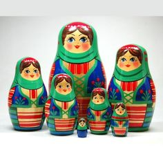 Molodechno Nesting Doll, Seven Part: Toys  Just bought my niece and daughter nesting dolls for Christmas! Hope the love them as much as I do!