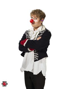 Josh Widdicombe is adamant he is going to get into the 2017 Red Nose Day spirit. The Last Leg, Comedy Actors, Red Nose Day, Comedians, Winter Jackets, British, Corner, Spirit, Comics