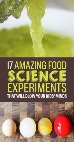 17 Food Experiments That Are Good Enough To Eat - 17 Amazing food science experiments! More science for kids Food Science Experiments, Mad Science, Stem Science, Science Fair Projects, Preschool Science, Elementary Science, Teaching Science, Science Education, Science For Kids