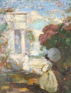 Conder, Charles, (1868-1909), Lyrical Landscape, 1900, Oil