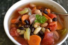 Weight Watchers Kielbasa & Bean Soup