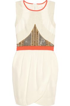 Sass & bide|We Are Stronger embellished silk crepe de chine dress|NET-A-PORTER.COM