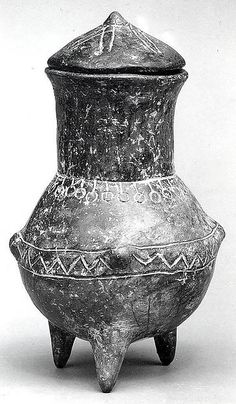 Tripod jar and lid Early Bronze Age II Date: ca. 2700–2400 B.C. Geography: Northwestern Anatolia Culture: Yortan