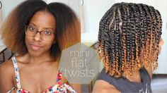 Mini Flat Twists on Blown Out Natural Hair | Eugenia Says - YouTube