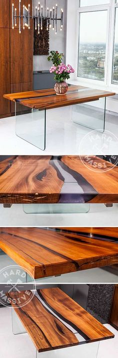 Beautiful table in the style - River of glass. Table made of wooden slabs Chinar with live edge and durable polymer. Legs are made of durable glass thickness of 2 cm. Length 200, width 90, height 75 cm #tableriver #unusualtable #tableglasswood #hardmassive #tablewood #tablewooddesign #tablewoodnatural #tablewoodfurniture #tablewoodslab #dinnertablewood