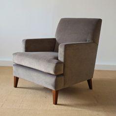 Grey velvet armchair  great design Nancy ,love it