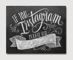 If You Instagram Printable Sign Instagram Wedding by LilyandVal. Establish hangtag for wedding celebration for guest photos #wedding #wed #ido