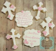 Baptism sugar cookies Keri's Kreations