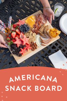 Charcuterie Recipes, Charcuterie And Cheese Board, Cheese Boards, Appetizers For Party, Appetizer Recipes, Summer Recipes, Holiday Recipes, Fourth Of July Food, July 4th