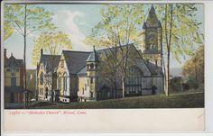 Bristol Connecticut CT Postcard 1901-1907 Methodist Church