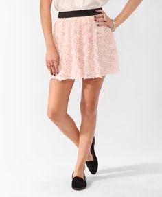 Short Rosette Mesh Skirt | FOREVER21 - 2000041738