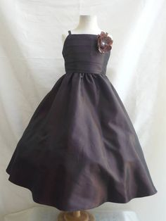 Flower Girl Dress BROWN  SP7 Wedding Children by NollaCollection, $29.99