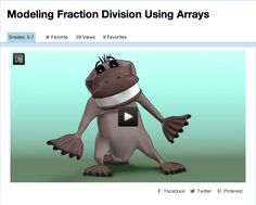 Modeling Fraction Division Using Arrays - This video illustrates a visual model for solving a word problem involving the division of fractions. In the accompanying classroom activity, students use arrays to estimate and/or solve the challenge problem presented at the end of the video. #Fractions #Division #Arrays #Math #MathVideo Teaching Fractions, Math Fractions, Teaching Math, Dividing Fractions, Math 5, Fun Math, Math Activities, Teaching 6th Grade, Math Coach