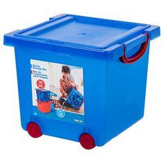 "Toys R Us Building Bricks Storage Bin - Blue - Iris USA - Toys ""R"" Us"