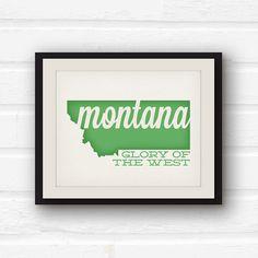 Montana Art Montana state pride Big Sky by PaperFinchDesign, $10.00