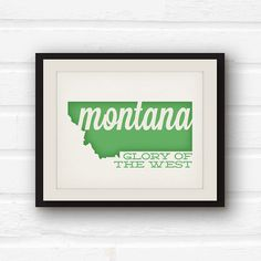 Montana Art Montana state pride Big Sky by PaperFinchDesign, $10.00