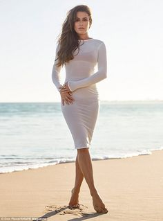 Sheer beauty: Lea sizzled in a clingy white dress from Mistress Rocks that left little to ...